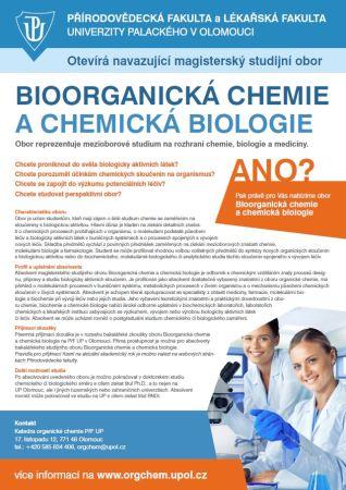 Mgr obor bioorganická chemie a chemická biologie