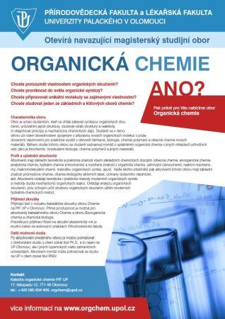 Mgr obor organická chemie
